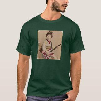 芸者のギター Tシャツ