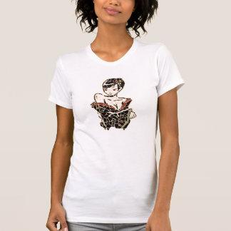 芸者のモザイク Tシャツ