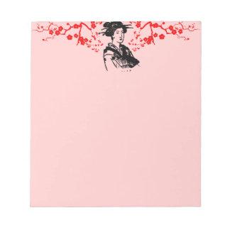 芸者及び桜 ノートパッド