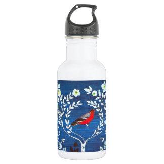 芸術および技術のスタイルの鳥 ウォーターボトル