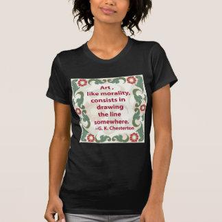 芸術および道徳のG.K. Chesterton Tシャツ
