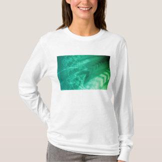 芸術として生物学の細胞そしてモダンな医学の技術 Tシャツ