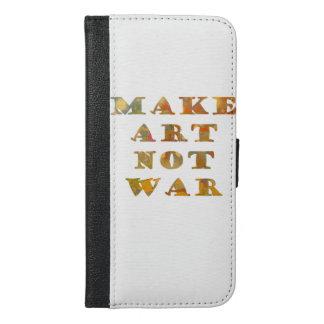 芸術ない戦争をして下さい iPhone 6/6S PLUS ウォレットケース