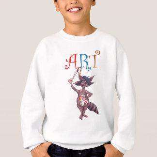 芸術のアライグマ スウェットシャツ