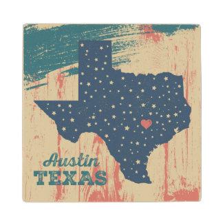 芸術のオースティン動揺してな木製のテキサス州のコースター ウッドコースター