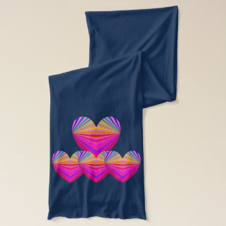 芸術のスカーフのPopArtのピンクのハートのバレンタインColorblock 2 スカーフ