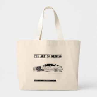 芸術のセダン車の運転 ラージトートバッグ