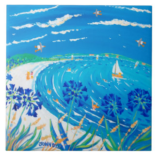 芸術のセラミックタイル: ジョンのダイアーのScillyの青の眺め タイル