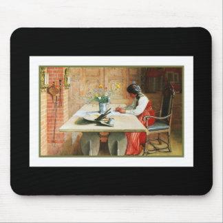 芸術のテーブルのヒルダ マウスパッド