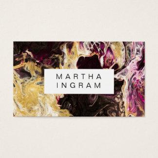 芸術のデザインの抽象芸術の流動暗い紫色および金ゴールド 名刺