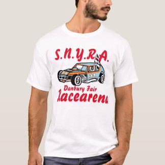 芸術のデービスダンベリー公平なRacearena SNYRAのロゴ Tシャツ