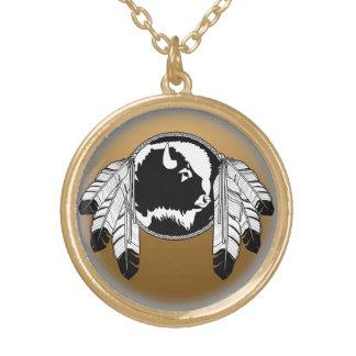 芸術のネックレスの精神のバッファローのMetisの天然ジュエリー ゴールドプレートネックレス