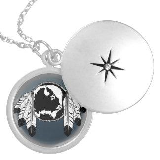 芸術のネックレスの精神のバッファローのMetisの天然ジュエリー シルバープレートネックレス