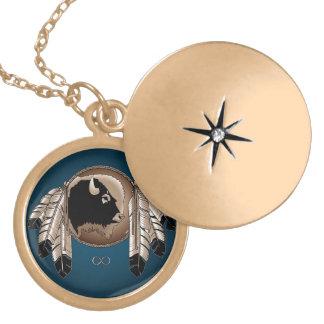 芸術のネックレスの精神のバッファローのMetisの天然ジュエリー ロケットネックレス