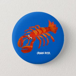 芸術のバッジボタン: コーニッシュのロブスター 5.7CM 丸型バッジ