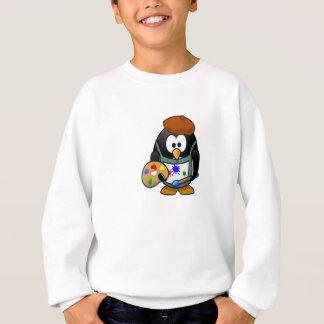芸術のパレットを握っているペンギン スウェットシャツ