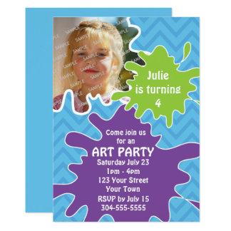 芸術のパーティー カード