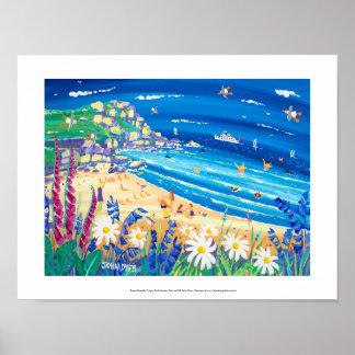 芸術のプリント: 秘密の海岸の御馳走、Porthchapel ポスター