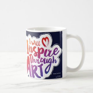 芸術のマグを通ってインスパイア コーヒーマグカップ