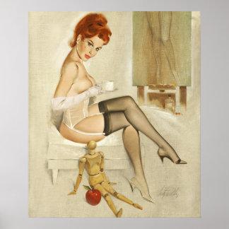 芸術の上のアナのマネキンPinの赤毛 ポスター