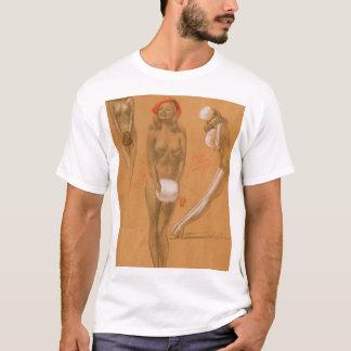芸術の上の3裸体Pin Tシャツ