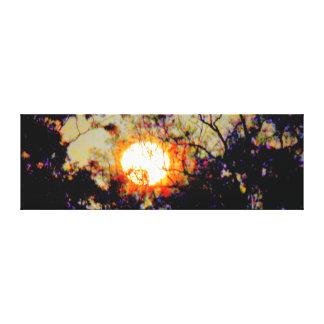 芸術の効果の満月田園オーストラリア キャンバスプリント