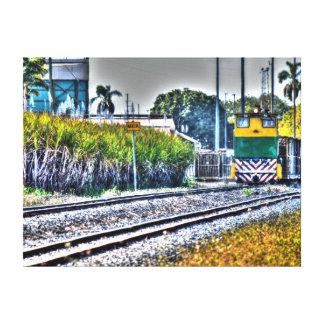 芸術の効果の砂糖きびの列車オーストラリア キャンバスプリント