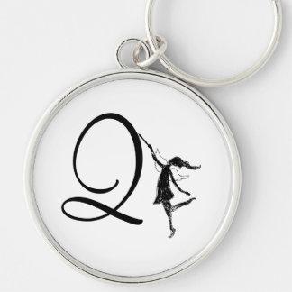 芸術の妖精のイニシャル: Q キーホルダー