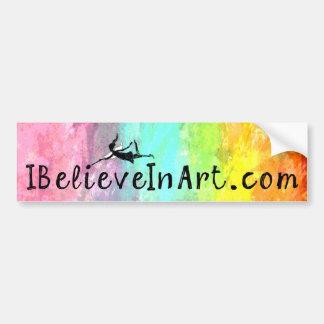 芸術の妖精: 昇進IBelieveInArt.com バンパーステッカー