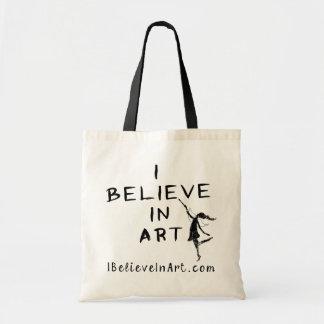 芸術の妖精: 私は昇進芸術で信じます トートバッグ