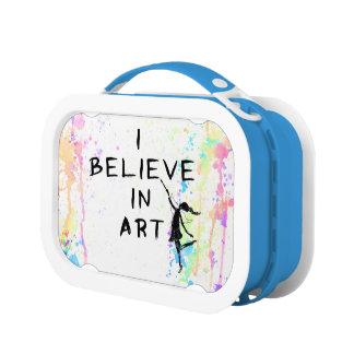 芸術の妖精: 私は芸術の水彩画の操業で信じます ランチボックス