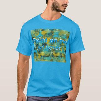 芸術の恋人の人の基本的な暗いTシャツ Tシャツ