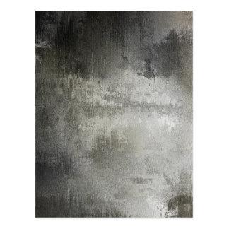 芸術の抽象的でグランジな白黒織り目加工 ポストカード
