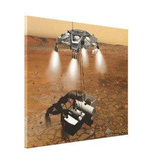 芸術の火星の表面からの離昇 キャンバスプリント