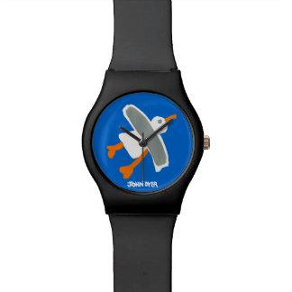 芸術の腕時計: ジョンのダイアーのコーニッシュのカモメ 腕時計