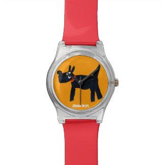 芸術の腕時計: ジョンのダイアーのBella Scotty犬 腕時計