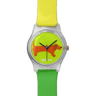 芸術の腕時計: ダックスフント 腕時計