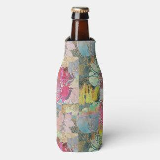 芸術の花のグランジなパターン ボトルクーラー