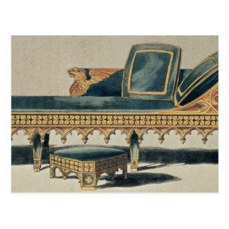 「芸術の貯蔵場所からのゴシック様式ソファー ポストカード