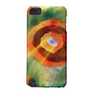 芸術の質の抽象芸術水緑、オレンジ、円 iPod TOUCH 5G ケース