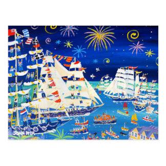 芸術の郵便はがき: 高い船および小舟2014年 ポストカード