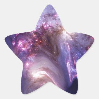 芸術の間隔をあけさせます天国星雲に人 星シール