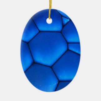 芸術の青く暗い石 セラミックオーナメント