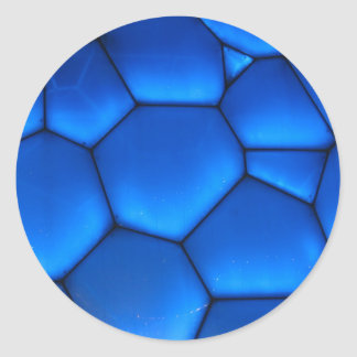 芸術の青く暗い石 ラウンドシール
