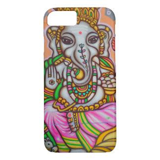芸術のElelphantのヒンズー教の女性 iPhone 8/7ケース