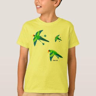 芸術のTシャツ: エメラルドのオウム。 黄色い子供 Tシャツ