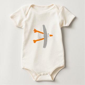 芸術のTシャツ: クラシックなカモメ ベビーボディスーツ