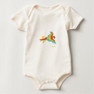 芸術のTシャツ: 熱帯オウム ベビーボディスーツ