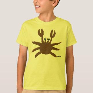 芸術のTシャツ: 熱狂するなカニの海岸の休日の上 Tシャツ