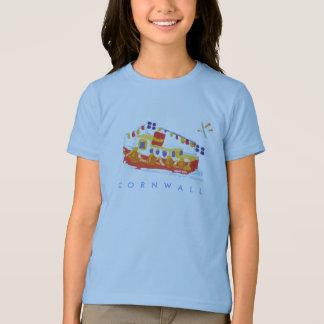 芸術のTシャツ: Falmouthのフェリーボート、コーンウォール。 カモメ Tシャツ